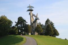 Aussichtsturm Kleeberg ehemalige Gemeinde Labuch - Jahr 2002